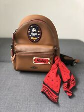 NEW LIMITED EDITION MICKEY MOUSE X COACH SMALL SADDLE BACKPACK-F59356