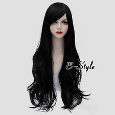 Basic 80CM Black Long Wavy Style Women Heat Resistant Daily Cosplay Party Wig