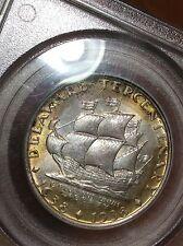 1936 Delaware Pcgs Ms65 Silver Half Dollar, Classic Commemorative, Tab Toned 50c