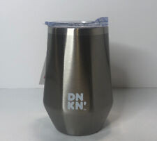 Dunkin Donuts 12oz Insulated Tumbler Stainless Steel Travel Silver Hot Cold 2019