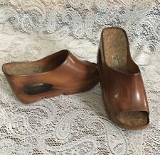 Vtg. 70s Women Christian Vermonet Wedge Sandal Platform Shoe Sz. 6 Eur 37