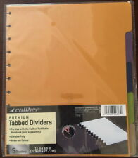 Premium Poly TABBED Dividers 5 Color For Caliber Discbound Notebooks or Punch