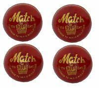 """4 X CW  """"MATCH RED"""" HIGH Quality 4 Piece Cricket Ball -156 g + A Grade"""