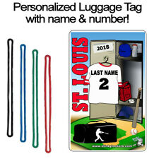 Personalized St. Louis Baseball Luggage Tag