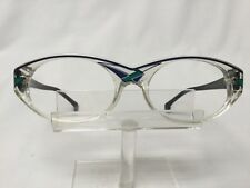 New Old Stock VanDoesburg 104 Eyglasses Black Clear Blue Made in W Germany