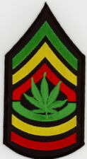 "5 Leaf in (GYR) Shoulder Embroidered Patches 2.5""x4.75"" iron-on"