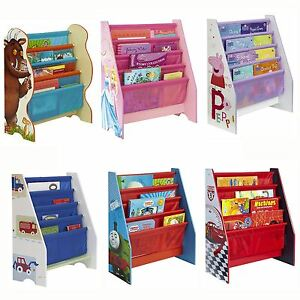 CHARACTER SLING BOOKCASE BEDROOM STORAGE – PEPPA, THOMAS, GRUFFALO, CARS & MORE