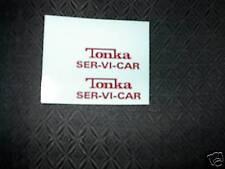 TONKA TRUCK  RED SER-VI- CAR 1962  DECAL SET