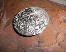 Gürtelschnalle Gürtelschließe 925 Silber keltisch f. Leder Gürtel Buckle Triskel