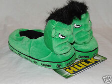 NEW WITH TAG KIDS INCREDIBLE HULK MARVEL 2003 PLUSH SLIPPERS SIZE 13-1 MEDIUM