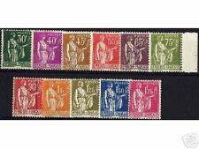 """FRANCE STAMP YVERT N° 280/89 """" TYPE PAIX SERIE 11 TIMBRES """" NEUFS xx LUXE D114"""