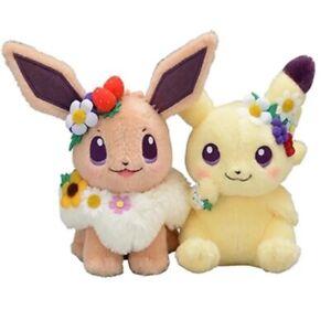Cute Fete Spring Eevee & Pikachu Toy Stuffed Plush Doll Kids Gift Toys