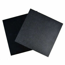 300 x 300 x 0.5mm Black ABS Plastic Sheet Plate Flexible Smooth Back Durable