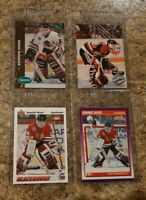 (4) 1991-92 Dominik Hasek Rookie card lot Upper Parkhurst Score Pro RC Sabres