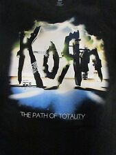 Men's XL Black Korn the Path of Totality Graphic Tee T-Shirt Cotton G44