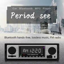 Vintage Car Bluetooth Radio MP3 Player Stereo USB/AUX FM Audio P1O9 Stereo N9N6