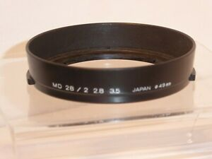 AUTHENTIC MINOLTA MD CLIP ON LENS HOOD for 28mm F2 28mm F2.8 28mm F3.5 LENS (CH)