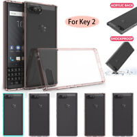 For BlackBerry Key 2 Hybrid Slim Case Shockproof Acrylic Hard Bumper Phone Cover