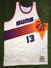 Mitchell Ness Phoenix Suns Steve Nash #13 Jersey White Gold Logo Men's 52 NBA