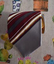 Pancaldi Vintage Silk Tie   Baroque stripe, grey necktie (Made in Italy)