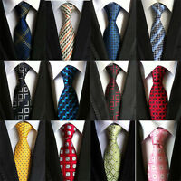 New Classic 100% Silk Men's Tie Geometric Mix Color JACQUARD WOVEN Necktie