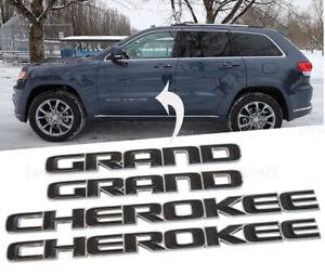 Black Cherokee Door Emblem Badge fit 2017-2020 Jeep Grand Cherokee OEM Mopar