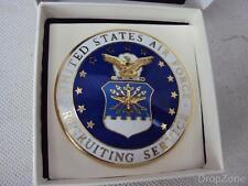 Neu USAF Vereinigte Staaten Air Force Emaille Recruiting Id Abzeichen Abzeichen