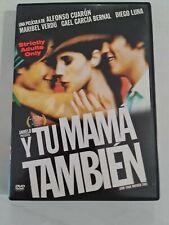 Y Tu Mama Tambien Rated R 18+ Gael Garcia Bernal Alfonso Cuaron Region 2 (Uk)