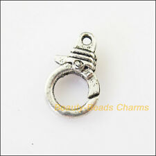 4Pcs Tibetan Silver Triangle Bracelet Lobster Clasp Connectors 11x19mm
