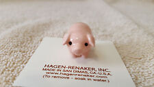 Hagen Renaker,Pig,Brother Pig,Pink,Figurine,Miniature,Gift,Free Shipping,00370