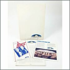 David Bowie 1983 Serious Moonlight Carrier Dome New York Promo Press Kit (USA)