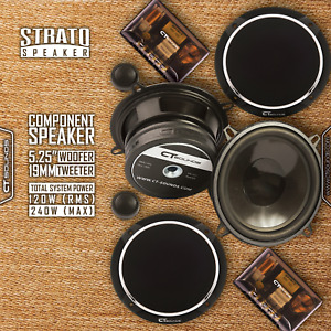 CT Sounds Strato 5.25 Inch Car Audio 2 Way Full Range Component Speakers Set