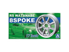 AOSHIMA NO.04 RS WATANABE 8SPOKE 17 INCH TIRE & WHEEL SET 1/24 Scale