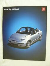 Citroen C3 Pluriel - Prospekt Brochure 06.2004