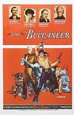 THE BUCCANEER Movie POSTER 27x40 C Yul Brynner Charlton Heston Claire Bloom