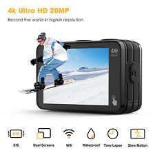 Campark Action Camera 4K 20MP WiFi Dual Touch Screen Remote Control Vlog Camera