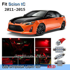 For 2011-2016 Scion tC Premium Red LED Interior Lights Kit 6 Pieces
