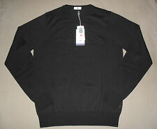 Jersey Negro 100% Lana Merino 8 Talla 50 IT Slim Fit Made In Italy Black Jumper