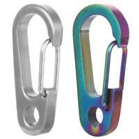 EDC Titanium Ti TC4 Outdoor Key Carabiner Keyring Clip Keychain Hook Holder