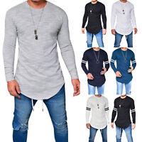 Men Long Sleeve Oversize Extra Long Tall Body T-shirt Sweatshirt Tops Blouse