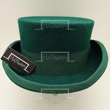 CLASSIC Wool Felt Men Top Hat Victorian Coachman Gentlemen Tuxedo   61cm   Green
