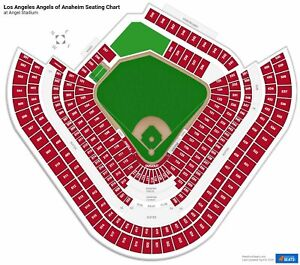 4 Tickets  Los Angeles Dodgers vs Los Angeles Angels 5/9/21  Anaheim