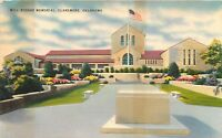 LINEN Postcard OK E082 Will Rogers Memorial Claremore AS IS Very Foxed