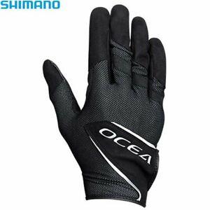 SHIMANO OCEA Stretch Fishing Glove Long Cuff GL-255S BLACK Japan NEW