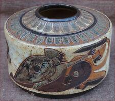 Belgium Art Deco Enameled Stoneware Vase A Dubois Norman Knight Mons 1930