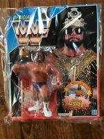 WWF WWE Hasbro Figure MACHO Randy Savage KING Wrestling 1991 Blue card Vintage
