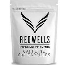 600 Pure Caffeine Anhydrous Capsules - 200mg Per Serving - Quality Guaranteed UK