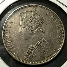 1891 BRITISH INDIA SILVER ONE RUPEE HIGH GRADE COIN