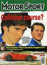 Motor Sport (Oct 1995) Lexus LS400, Mario Andretti,Aston V8, MG J2, Maserati 250