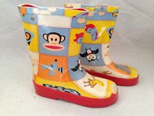 NEW Small Paul Frank Rain Boots Toddler Boy Girl XL 6T 13 industries rare